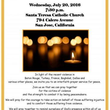 Interfaith Candlelight Prayer Vigil for Peach