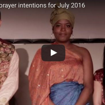 Pope Francis' prayer intentions for July 2016