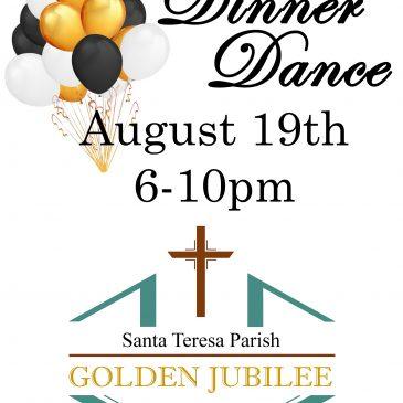 Dinner Dance for our 50th Anniversary Golden Jubilee