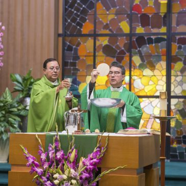 Welcome Mass for Bishop Oscar Cantú's at Santa Teresa Parish