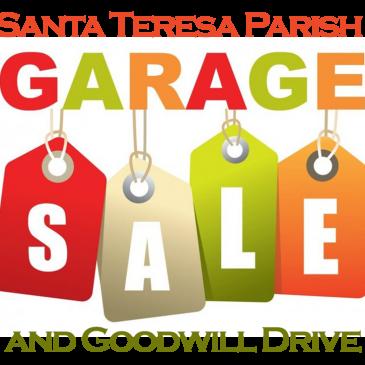 ** POSTPONED **  Santa Teresa Parish Garage Sale and Goodwill Drive